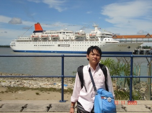 I set foot in the ship at port Klang, Malaysia on November 8, 2005. You know, in life, the first act, always exciting. The minute I walked in the ship, I went, Oh yeah, that's amazing. That's where it all started for SSEAYP 2005. 6 years seems like yesterday!