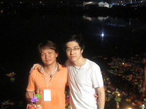 With My Thai host brother. He is so nice! loy krathong festival 21.11.2010